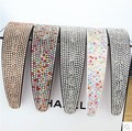 luxury full rhinestone broadside hair bands with diamond headband double slip-resistant quality diamond hair accessory 10 styles