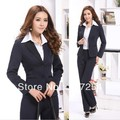 Newest Professional Women's Uniform Pants Suits Elegant Business Work Wear Career Suits Coat & Pants Beautician Sets Plus Size