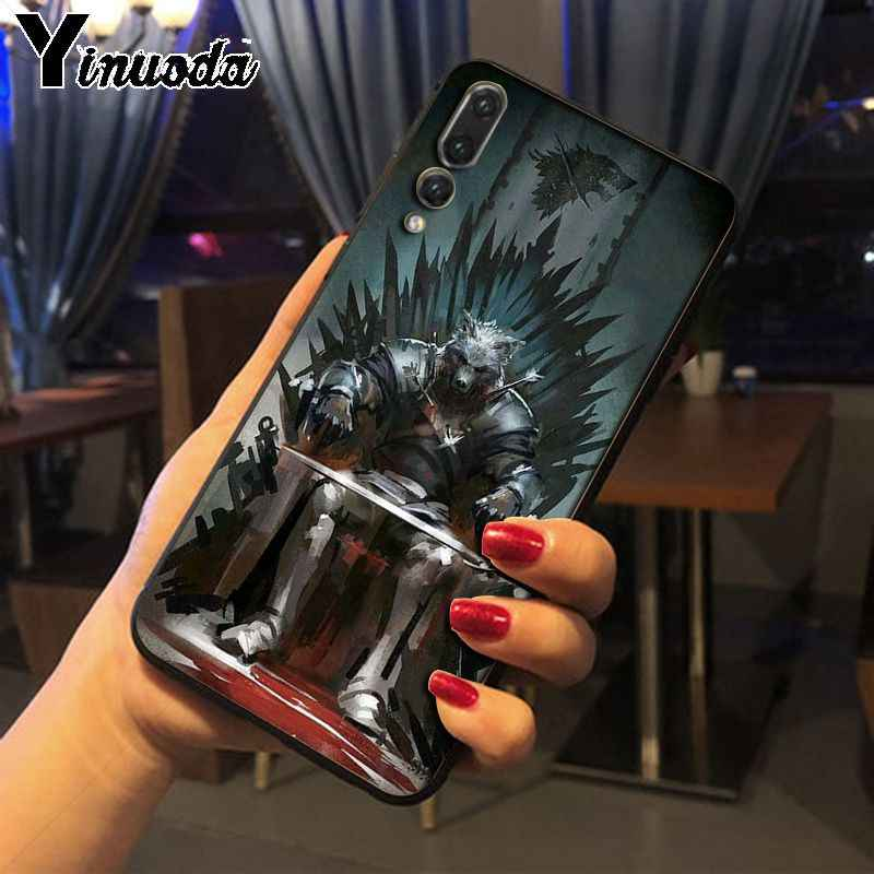 Funda de teléfono Yinuoda para Huawei P20pro mate10lite honor 20 p10plus honor 8x 7A nova3i mate20lite funda de Juego de tronos lobo