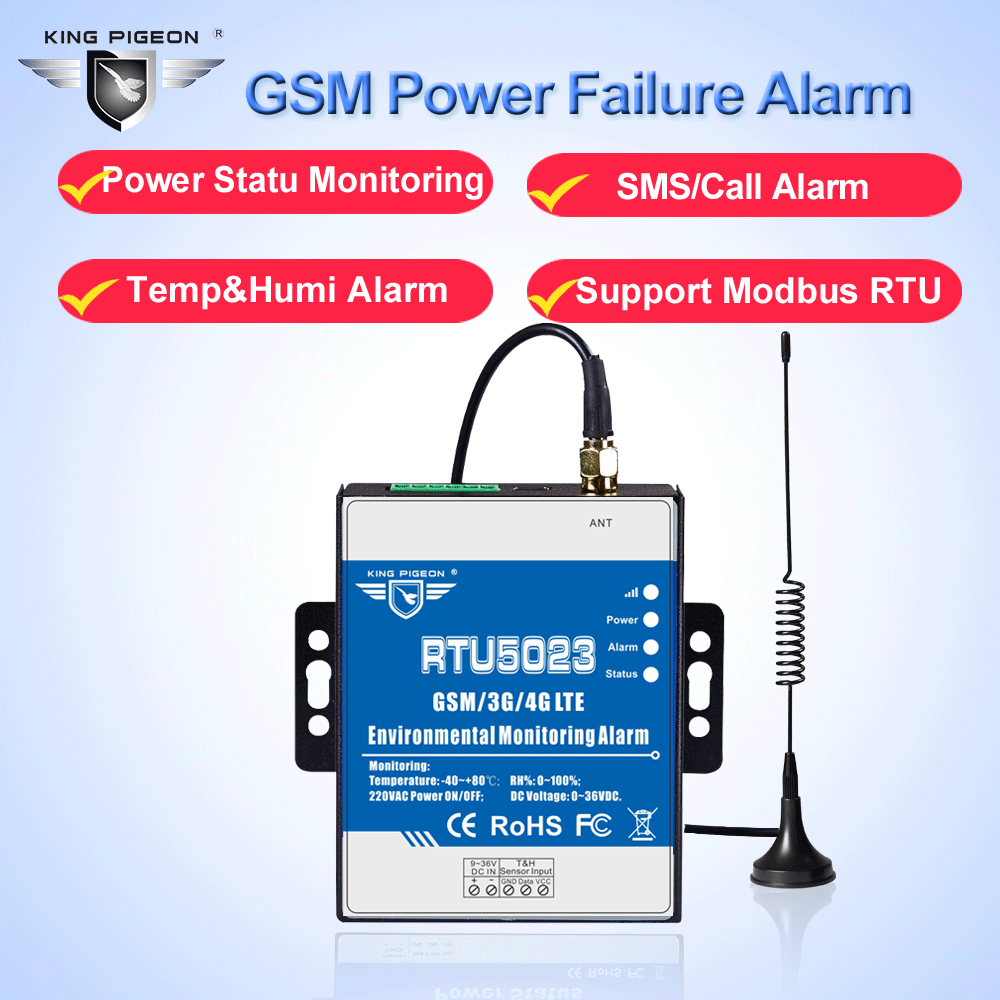 RTU5023 GSM Environment Alarm System Power Status Monitoring Temperature Humidity Sensor Supports Modbus RTU Over TCPRTU5023 GSM Environment Alarm System Power Status Monitoring Temperature Humidity Sensor Supports Modbus RTU Over TCP