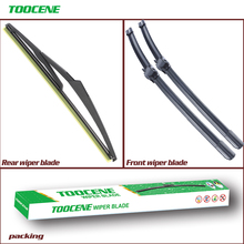 Front and Rear Wiper Blades For Mercedes Benz C Class W204 2009-2012 Windshield Windscreen wiper Car Accessories цена 2017