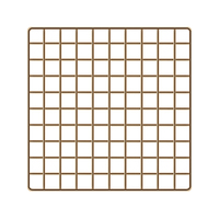 HIPSTEEN Iron Art Grid Photo Wall Decorative Wire Wall in Living Room Photograph Hanging Picture Wall Golden