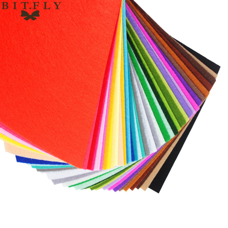 ALI shop ...  ... 32770502360 ... 4 ... High Quality Mix Colors Non Woven Felt Fabric 1mm Thickness Polyester Cloth Felts DIY Bundle For Sewing Dolls Crafts Free ship ...