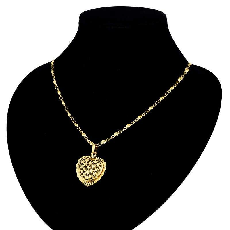 Pendentif coeur et colliers bijoux romantiques couleur argent or pour femmes filles cadeau de mariage petite amie femme cadeaux