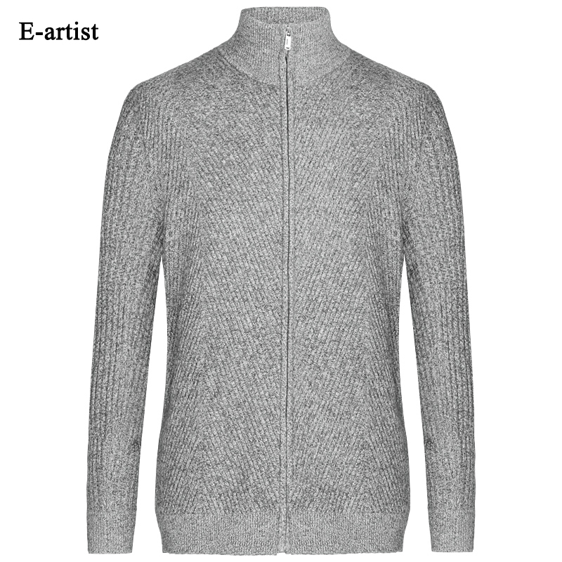 Autumn New font b Men s b font O Neck Slim Fit Casual Knitted font b