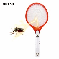 OUTAD 1pcs Quality Rechargeable LED Electric Insect Bug Fly Mosquito Zapper Swatter Killer Racket 3 Layer