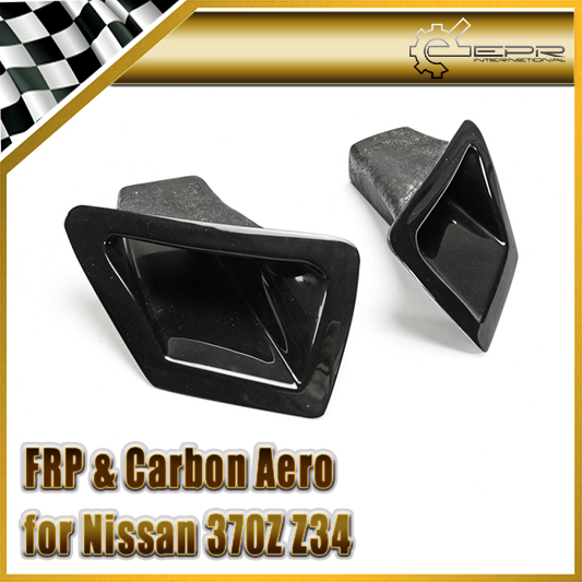 EPR Car Styling For Nissan 370Z Z34 FRP Fiber Glass Front Bumper Air Duct Set Fiberglass Air Vent Accessories Racing Trim