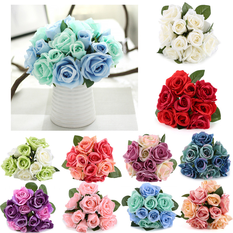Aliexpress Com Buy 6 Heads Silk Roses Artificial Flowers