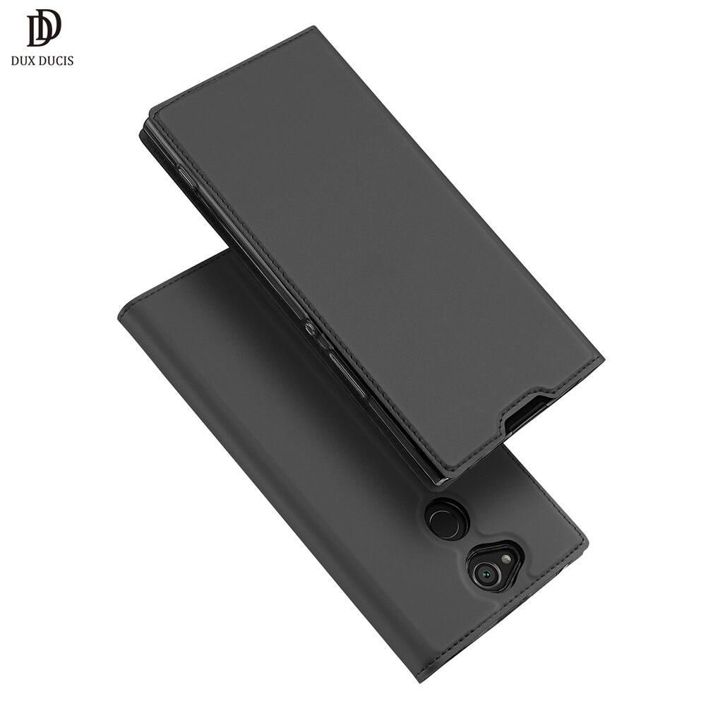 DUX DUCIS De Luxe Flip PU Étui En Cuir Pour Sony Xperia XA2 portefeuille Couverture de Téléphone Pour Sony Xperia XA2 XA 2 5.2 Coque Etui 2018 Nouveau