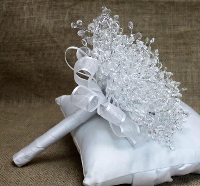 New Design Crystal Wedding Bouquet Bride Bouquet Bridal Wedding Bouquet Bridesmaid Artificial flower Hand Made beaded Brooch (4)
