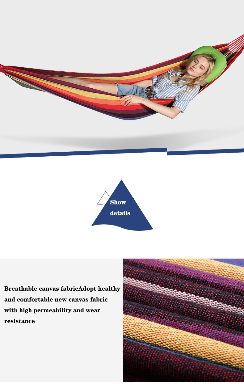 caminhadas lona tarja hammock pendurado cama 200x100 cm