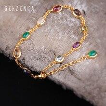 цена 925 Sterling Silver Natural Gemstone Bracelets Fine Jewelry for Women Agate Ruby Color Handmade Bracelets Tredny Party Gift онлайн в 2017 году