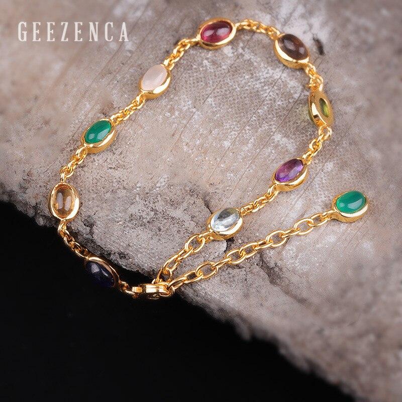 925 Bracelets en argent Sterling pierres précieuses naturelles bijoux fins pour les femmes Agate couleur rubis Bracelets faits à la main Tredny cadeau de fête