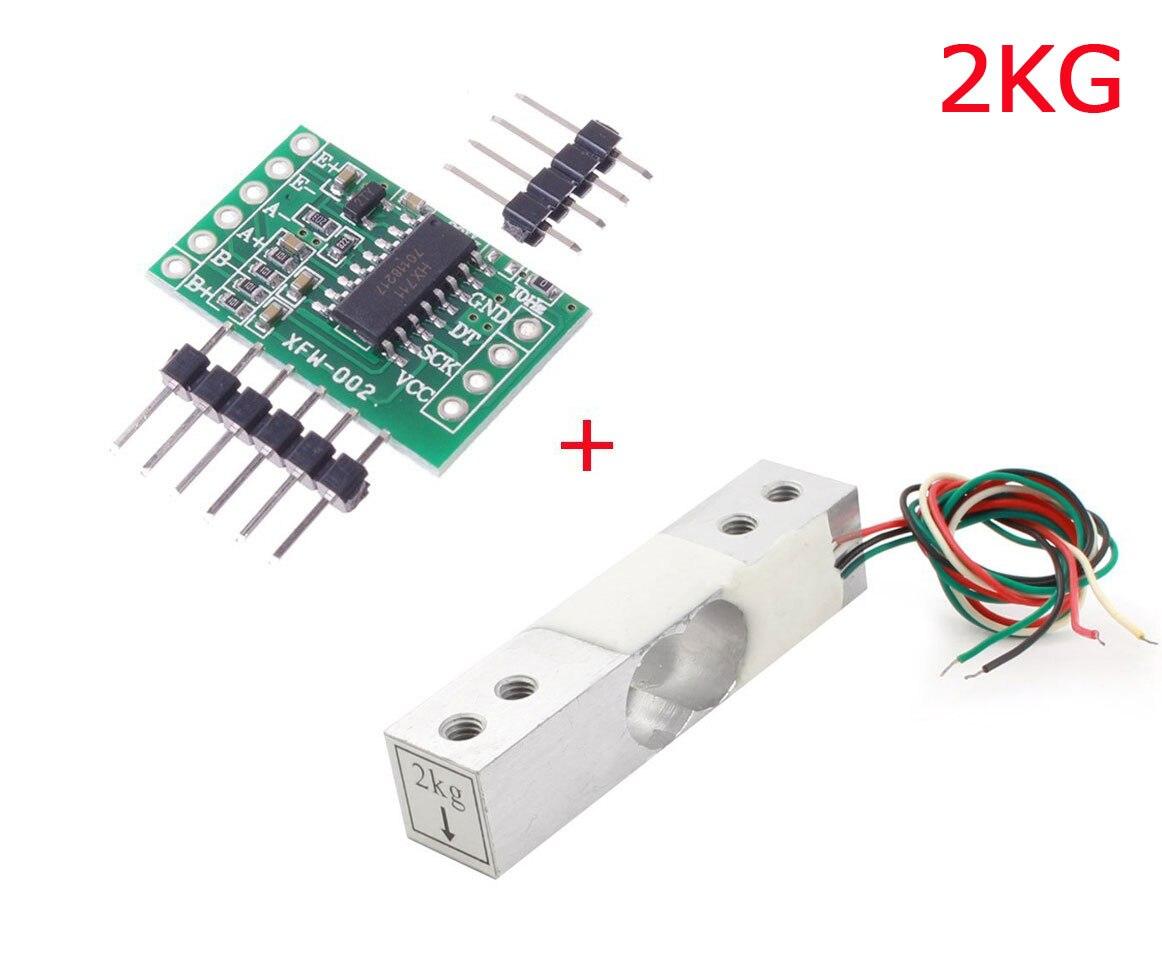 Elektronische Waage Wägezelle Sensor 5Kg mit HX711-Modul WRDE