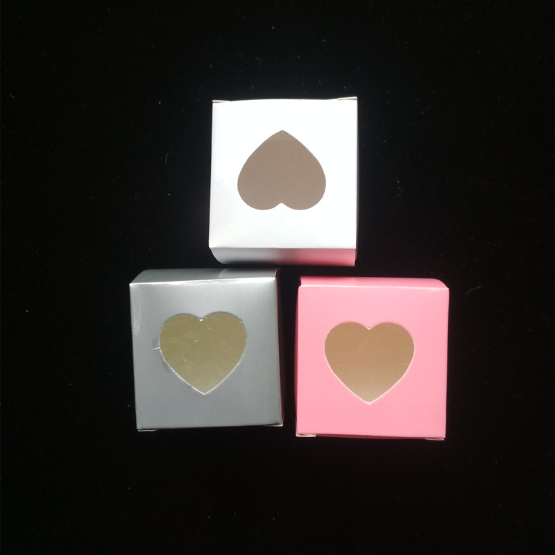 AJP 100Pcs Heart Shaped cupcake boxes birthday party Wedding Chocolate Packing Party Single candy cookies Boxes