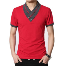 V Neck Cotton T-Shirt For Men