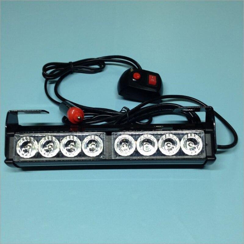12V 8w Led Car Emergency light bar Grill warning beacon light Police ...
