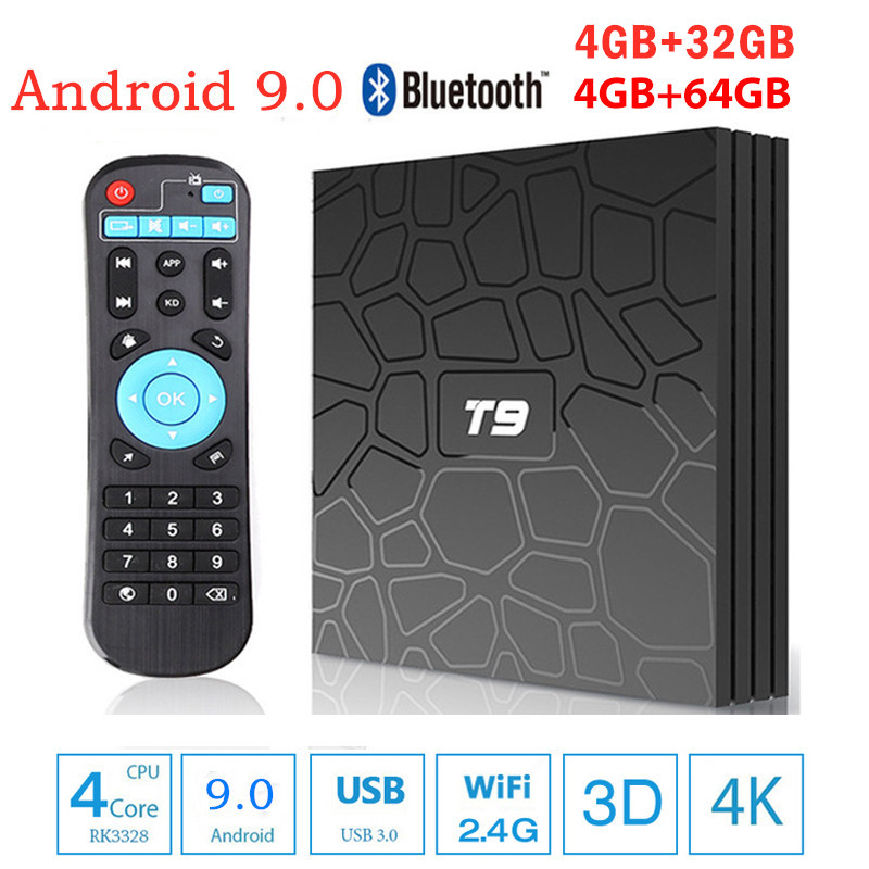 T9 Smart TV Box Android 8 1 4GB 32GB 64GB Rockchip RK3328 Quad Core WIFI 2