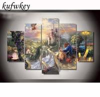 Diy Diamond Painting Direct Selling Kit Needlework 3d Square Diamond Painting Cross Stitch Mosaic Painting Forest