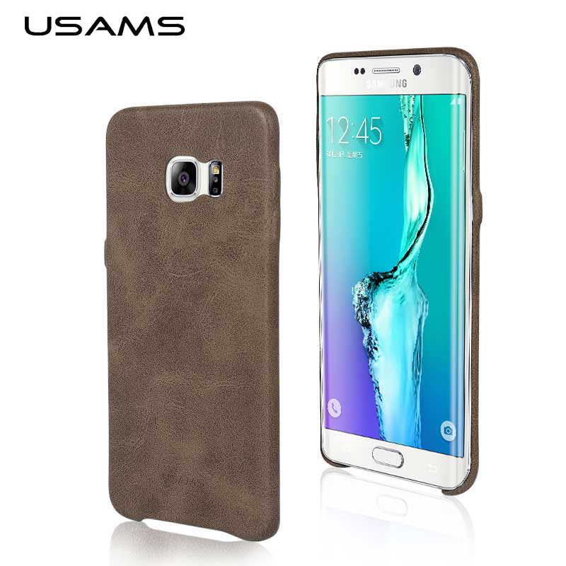 new arrivals ec44f 53437 For Samsung Galaxy S7 edge Case USAMS Bob Series Imported PU Leather ...