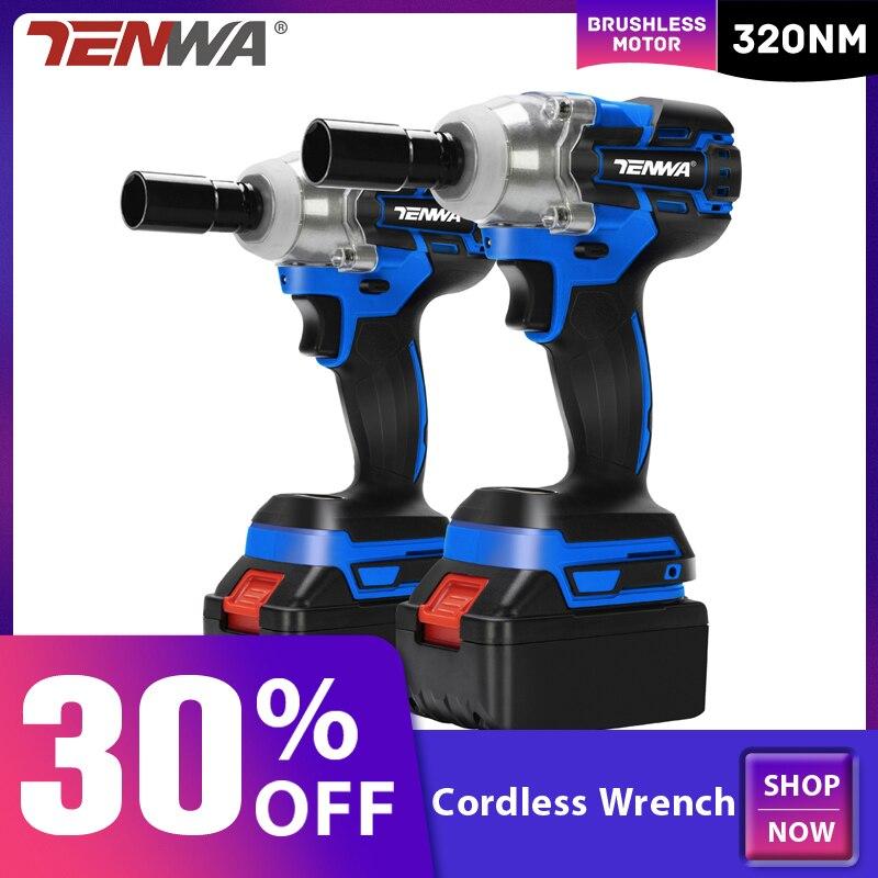 TENWA Bürstenlosen/Cordless Elektrische Wrench Auswirkungen Steckschlüssel 21 V 4000 mAh Li Batterie Hand Bohrer Installation Power Tools