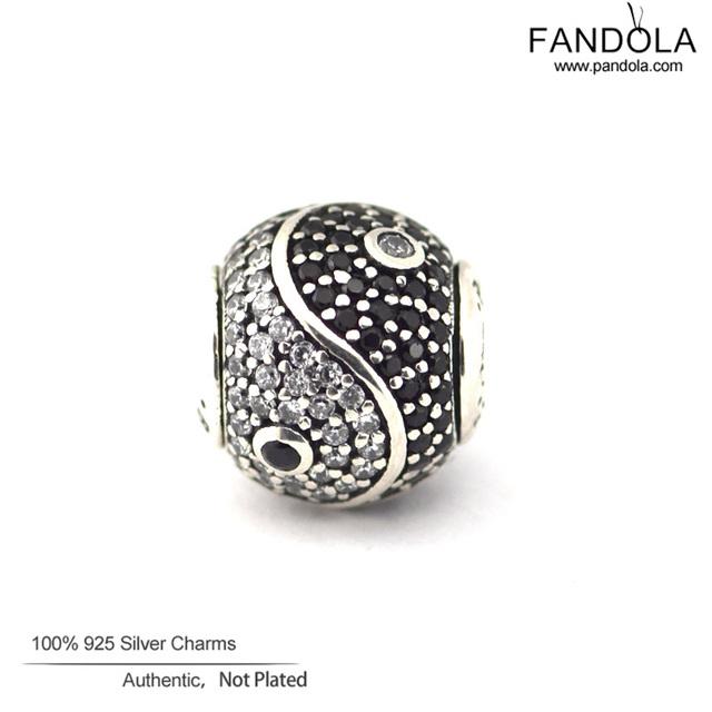 Serve para Pandora essência equilíbrio pulseiras encantos com Cubic Zirconia100 % Authentic 925 grânulos de prata esterlina frete grátis