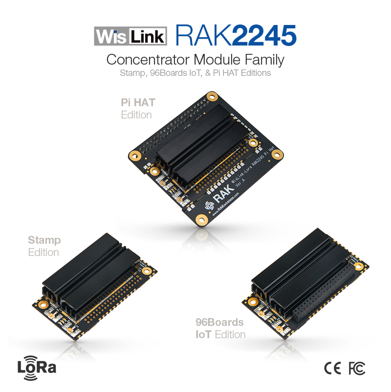 LoRaWAN Gateway Concentrator Module RAK2245 WisLink Raspberry Pi HAT Edition Based on SX1301 Include GPS Heat Sink 8 ChannelsLoRaWAN Gateway Concentrator Module RAK2245 WisLink Raspberry Pi HAT Edition Based on SX1301 Include GPS Heat Sink 8 Channels