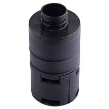 DWCX Nero di Plastica 25 millimetri di Aspirazione Aria Filtro Silenziatore Misura Per Webasto Eberspacher Auto Aria Diesel Riscaldatore di Parcheggio