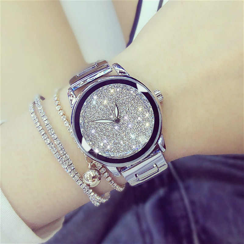 BS bee sister Super Simple Design WristWatch Rhinestone Fashion Casual Rhinestone Womens Watches Bracelet Luxury Ladies Watch