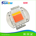 New 50w led grow chip ,80% is full spectrum ,20% is warm white light 3000K ,high lumens , high PPFD for plant grow