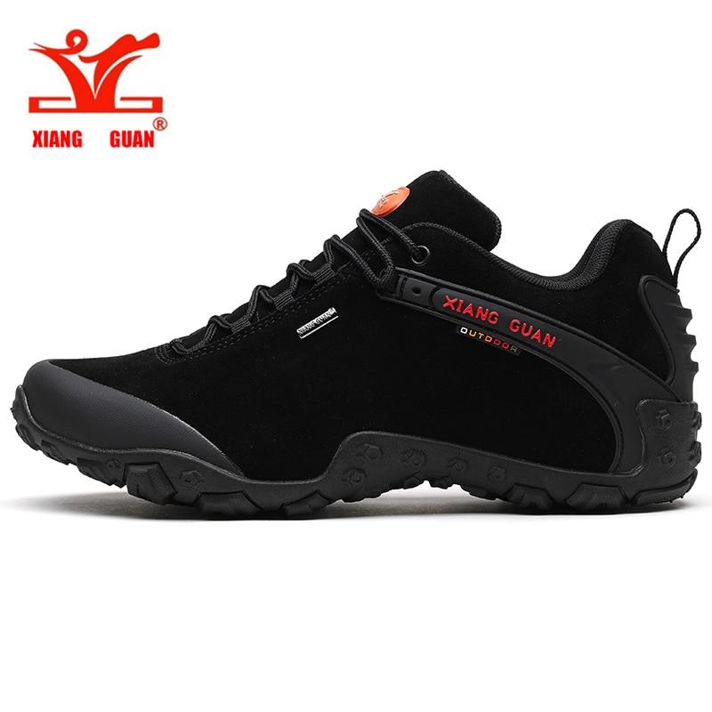 Chaussures de randonnée de montagne imperméables d'hiver chaussures de sport en cuir antidérapantes pour hommes chaussures de Trekking respirantes chaussures de sport en plein air
