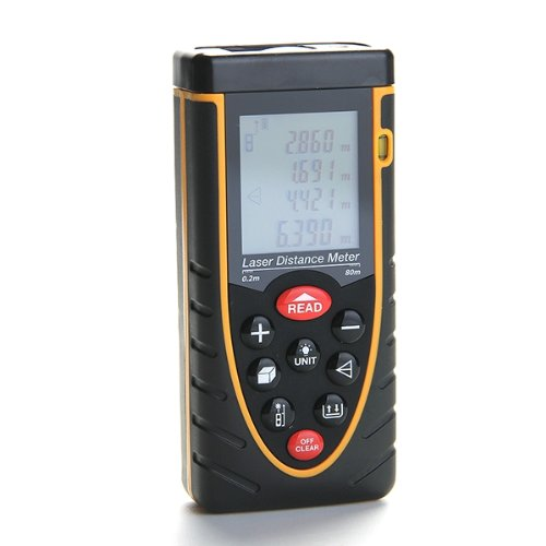 Digital Laser Distance Meter Tester Range Finder Measure 0.2 to 80m RZ80 laser range finder 40m 60m 80m 100m digital laser distance meter tape area volume angle engineer measure construction tools