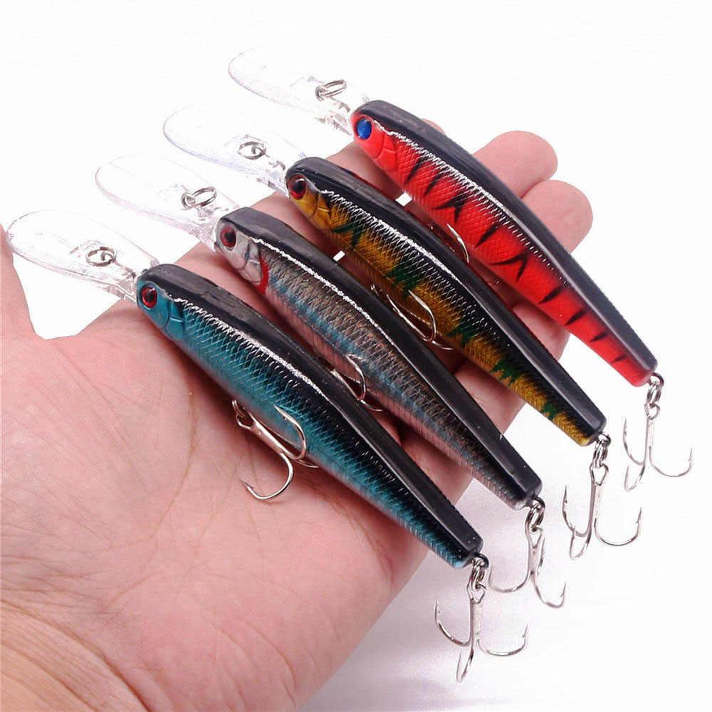 1 Buah Ikan Kecil Memancing Umpan 125 Mm 14G Crankbait Wobblers Umpan Keras Buatan Deep Sea Bass Umpan Ikan Plastik fishing Tackle