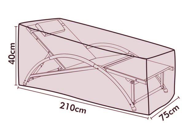 € 14.53 6% de réduction|Livraison gratuite transat housse de protection  210x75x40 cm, housse de salon de jardin, housse étanche pour mobilier ...
