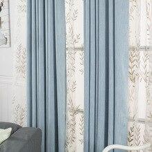 modernas cortinas de la ventana para nios cortinas del dormitorio sala de estar polister slido marrn oficina apagn cor