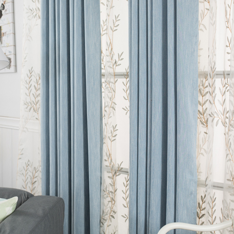 Modern Window Curtains For Living Room 100% Polyester Solid Kids Bedroom  Curtains Brown Office Blackout