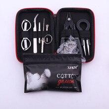 XFKM X9 мини Vape DIY сумка для инструментов Пинцет плоскогубцы провода нагреватели комплект катушки джиг обмотки для упаковки аксессуары для электронных сигарет