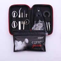 XFKM X9 Mini Vape DIY bolsa de herramientas pinzas alicates Kit de calentadores de alambre bobina de bobinado para embalaje accesorios de cigarrillos electrónicos