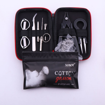 XFKM X9 Mini Vape narzędzie do majsterkowania torba pincety szczypce grzejniki drutu zestaw cewki Jig uzwojenie do pakowania akcesoria do elektronicznego papierosa tanie i dobre opinie Zestaw narzędzi CN (pochodzenie) XFKM X9 Mini Vape DIY Tool Bag Metal Heating Coil Wire Alien Clapton Coil