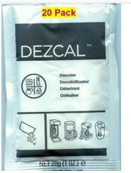 URNEX DEZCAL COFFEE MAKER & ESPRESSO DESCALER 20 PACK