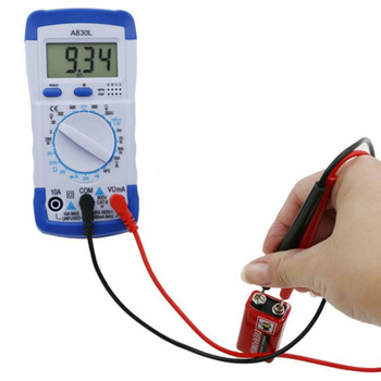 Multímetro Digital LCD de bolsillo, de 500mA/250V, A830L, amperímetro, CA/CC/OHM, comprobador de corriente de voltios