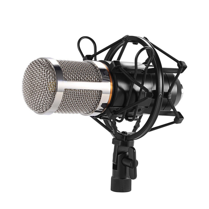FGHGF BM 800 Condenser Sound Recording Microphone With Shock Mount For Radio Braodcasting Singing Recording Kit KTV Karaoke