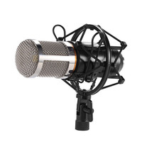 FGHGF BM 800 Condenser Sound Recording Microphone With Shock Mount For Radio Braodcasting Singing Recording Kit