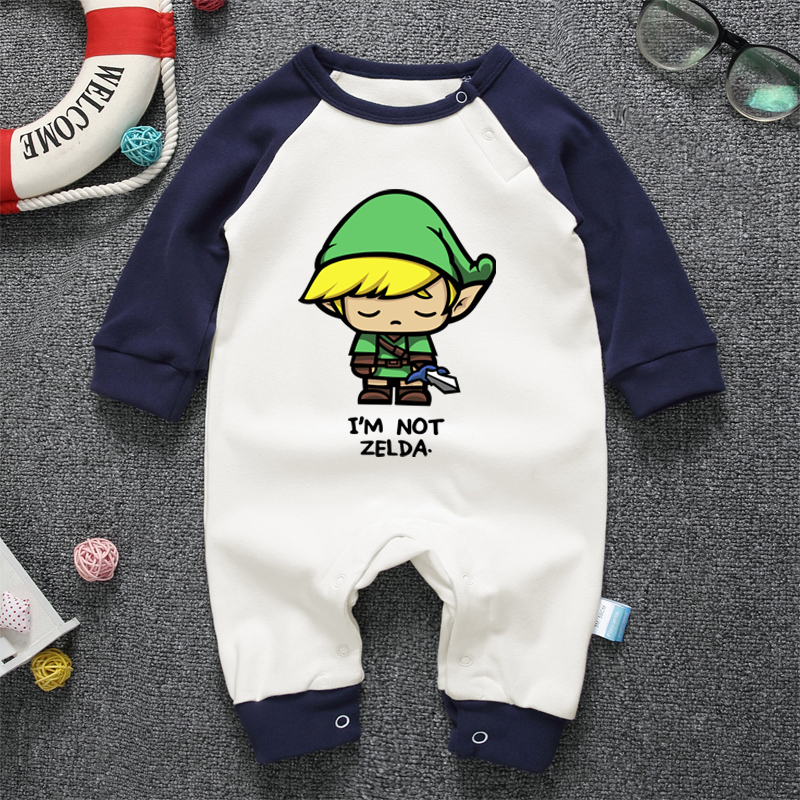 Baby Rompers Autumn Spring Long Sleeve Newborn Baby Boy Girl Jumpsuit Cotton Baby Clothes Cartoon Zelda Infant Cute Clothing