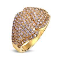 נחמד למראה למעלה איכות AAA מעוקב Zirconia טבעות אופנה נשים זהב/זהב לבן-צבע אהבת יום נישואים אלרגיה חינם מתנות