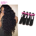 Stema Hair Company Brazilian Deep Wave Virgin Hair Brazilian Deep Curly Unprocessed Virgin Brazilian Hair Bundles Human Hair 4PC