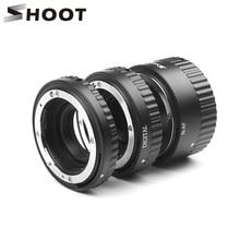 SHOOT Auto Focus Macro EXTENSION TubeสำหรับNikon D5600 D5500 D5300 D7200 D7100 D3400 D3300 D3200 D3100 D610 D90 อุปกรณ์เสริม