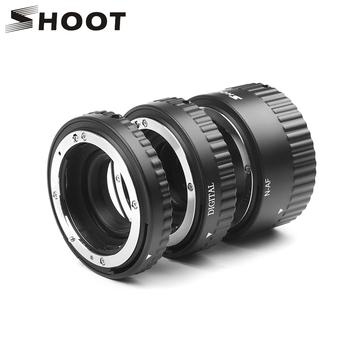 SHOOT Auto Focus Macro Extension Tube Ring for Nikon D5600 D5500 D5300 D7200 D7100 D3400 D3300 D3200 D3100 D610 D90 Accessories macro camera lens reverse adapter protection set for nikon d80 d90 d3300 d3400 d5100 d5200 d5300 d5500 d7000 d7100 d7200 d5 d610