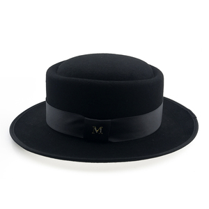 Image 2 - 60cm Fedora Men Autumn Felt Pork Pie Crushable Hat BREAKING BAD Hat Walter Winter Retro Fedora hat Classic Church Trilby YY18110
