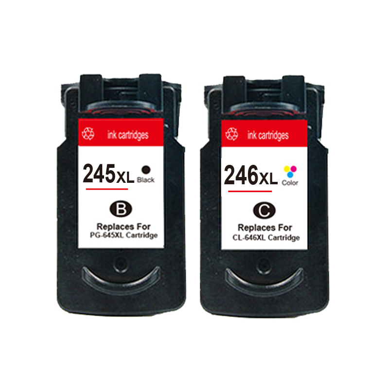 PG-245 CL-246 Black Ink Cartridge For Canon PG245 CL246 PIXMA iP2820 iP2850 MG2450 MG2520 MG2920 Printer 3bk 1c pg245 cl246 ink cartridge pg 245 cl 246 xl for canon pixma mg2520 mg2922 mg2450 mg2920 ip2850 ip2850 inkjet printer